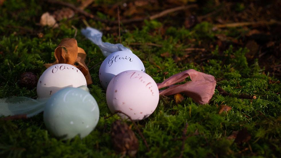 Personalised Ceramic Bauble (Sphere)