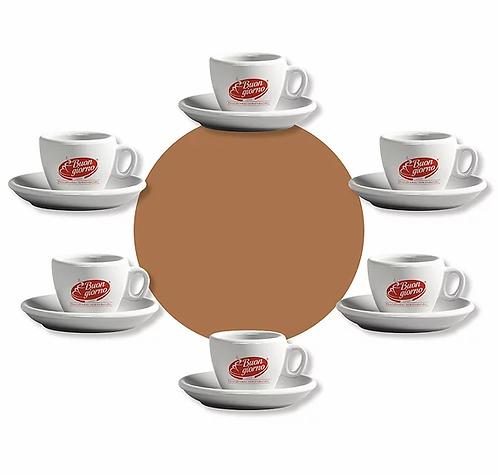Set of 6 Espresso Cups - Caffè Buongiorno