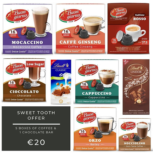 SWEET TOOTH - DOLCE GUSTO OFFER