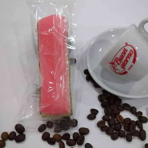 Single Almond Finger (Pink or White Icing) 85 grms