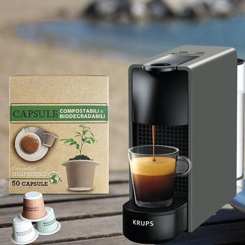 NESPRESSO® Essenza Mini Coffee Machine + 1 Box of Degradable Coffee x 50pcs