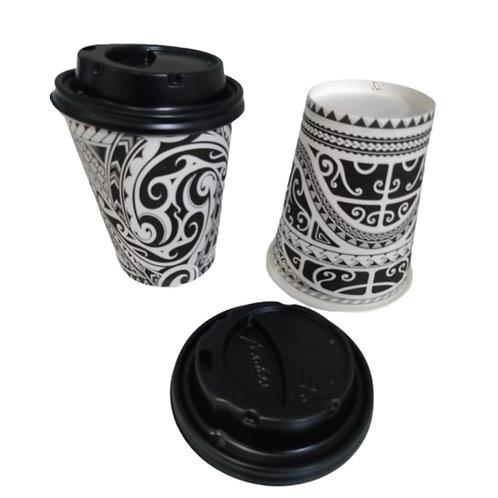 100 x paper cups unbranded (9,3oz/26cl) + 100 lids