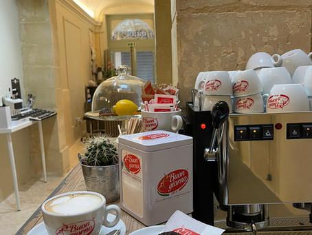 Caffè Buongiorno launches new venture with AMIS Malta in the heart of Valletta.