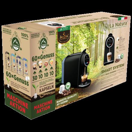 La Natura System Nespresso® machine + 2 boxes of compatible biodegradable coffee