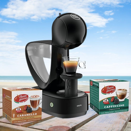 KRUPS DOLCE GUSTO INFINISSIMA CHARCOAL COFFEE MACHINE