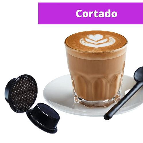 A Modo Mio compatible Cortado capsule 5,5 gr.  Pack of 16 pieces