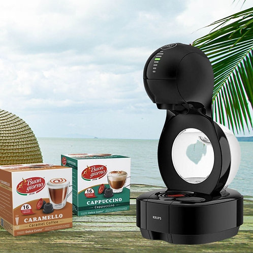 Dolce Gusto® LUMIO Automatic Coffee Machine + 2 Free Boxes of Coffee