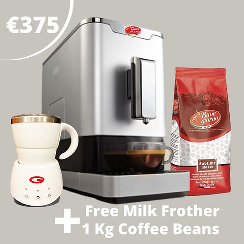 FULLY AUTOMATIC ESPRESSO MACHINE + 1KG COFFEE + MILK FROTHER