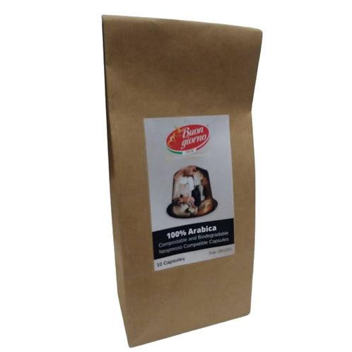 Nespresso 100% Arabica (10 Biodegradable Capsules)
