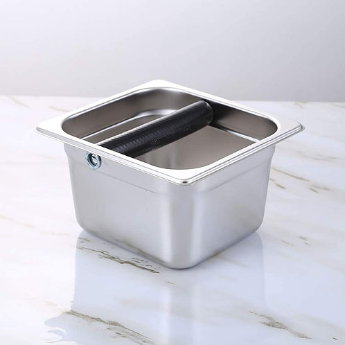 Espresso Coffee Knock Box in Stainless Steel