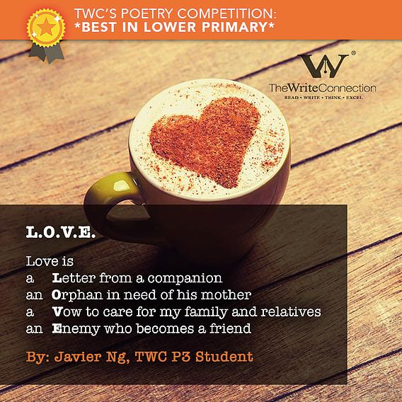 L.O. V. E, TWC Students' Valentine's Day Poetry, Student poem