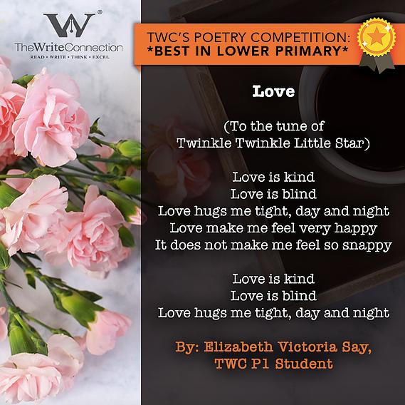 Love, TWC Students' Valentine's Day Poetry, Student poem