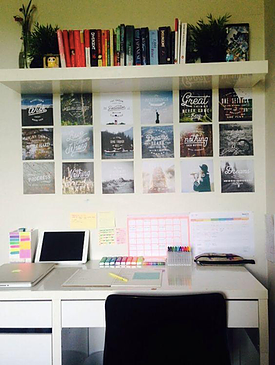 desk organisation idea, studious