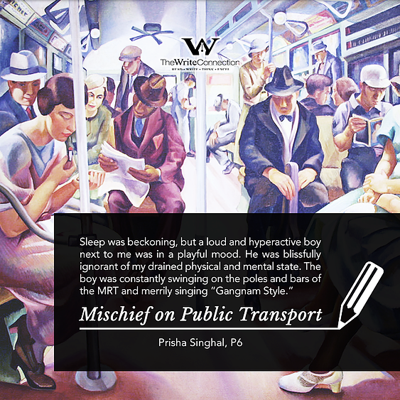 Mischief on Public Transport, TWC Student's Composition, Model Composition
