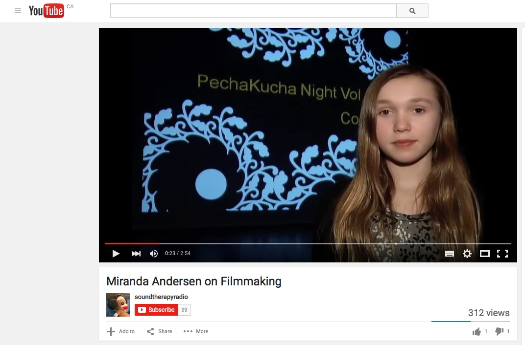 Miranda on Filmmaking (Video)
