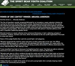 Spirit Bear Awards