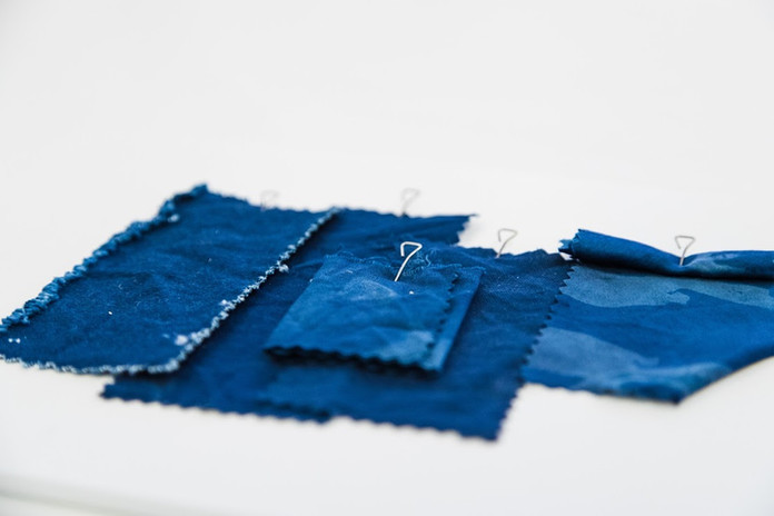 Indigo Dyed Samples.