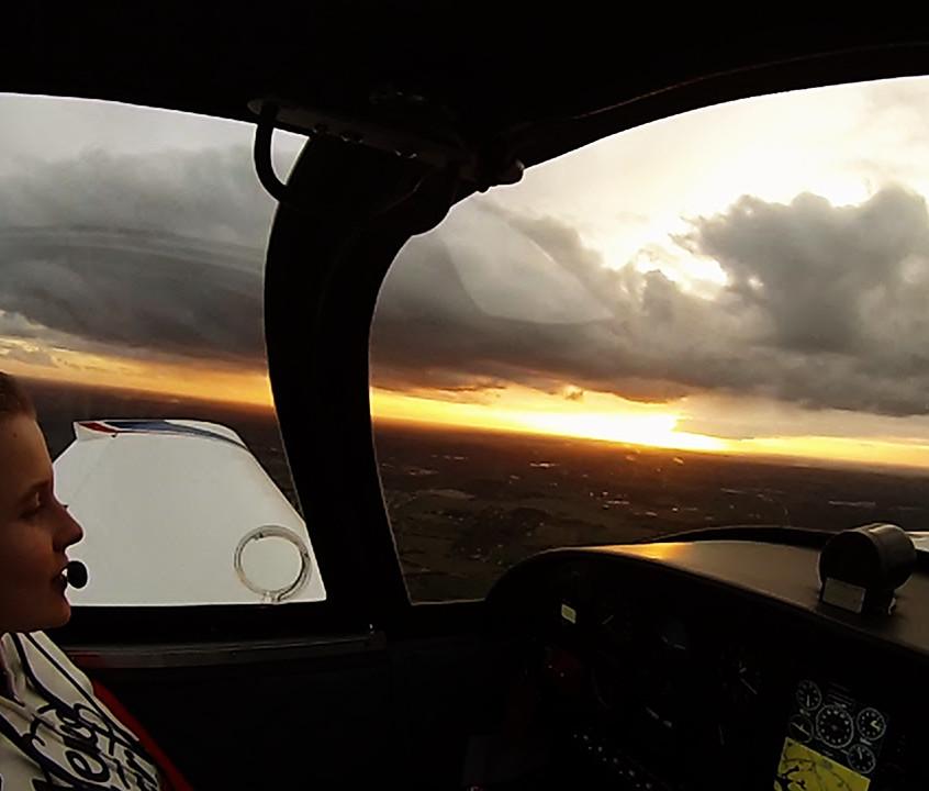 sunset Shirley aeromaine