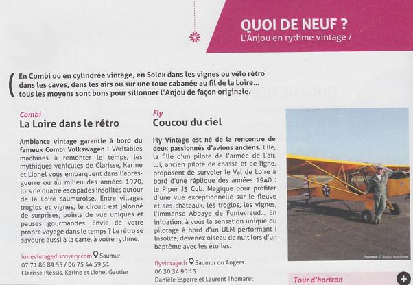 FLY VINTAGE ou l'Anjou en rythme vintage : un grand merci Anjou-tourisme pour votre dossier de p