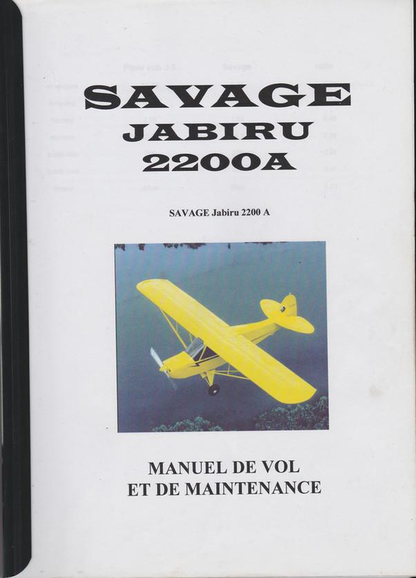 Pilotes et élèves pilotes : Manuel de vol du Zlin Savage Jabiru 2200A