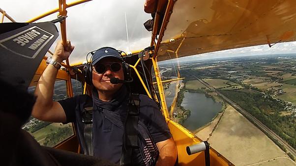 Vol d'initiation au pilotage de Stéphane
