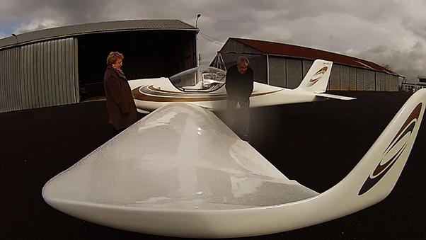 Premier vol du gaz'aile 2 de Régis