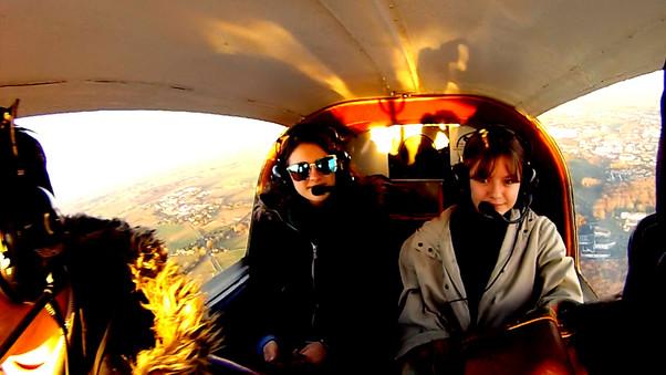 Vol au dessus la Loire avec Pierre, Delphine et Estelle