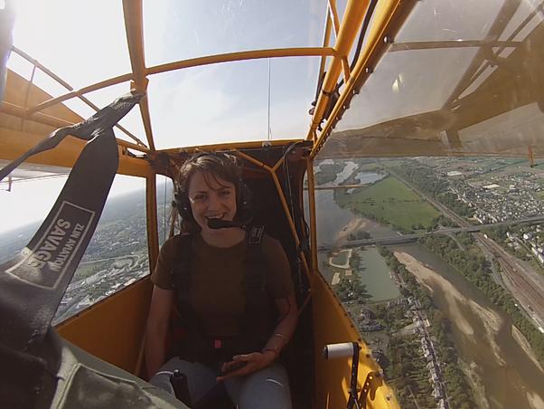 Chloé, journaliste VSD a découvert la Terre vue du ciel avec Fly Vintage