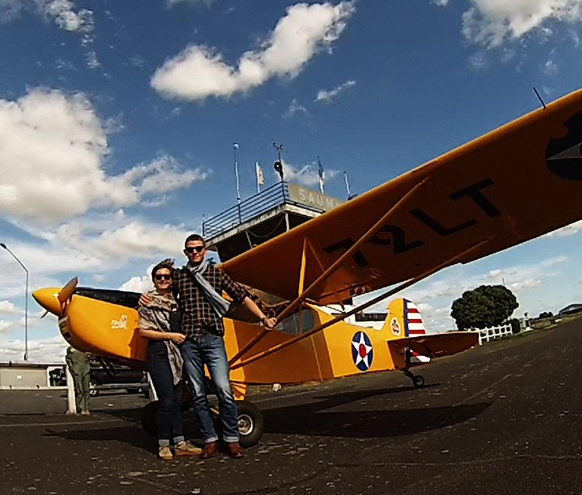 plane fly vintage saumur