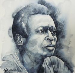 Miles Davis 28x28cm akvarell