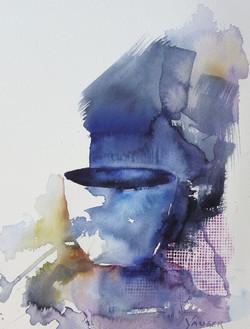 Skål akvarell25x33cm