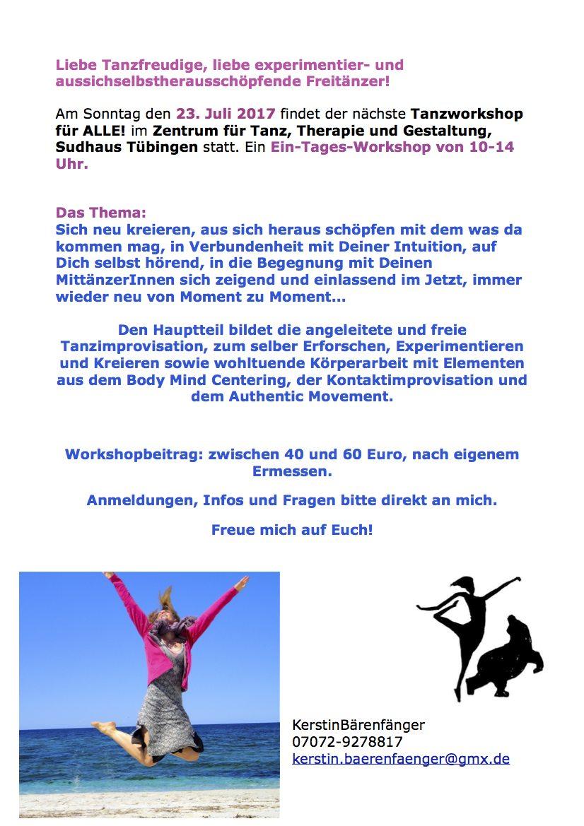 4.Tanz Workshop 23.Juli 2017