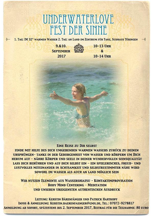 Underwaterlove Fest der Sinne September