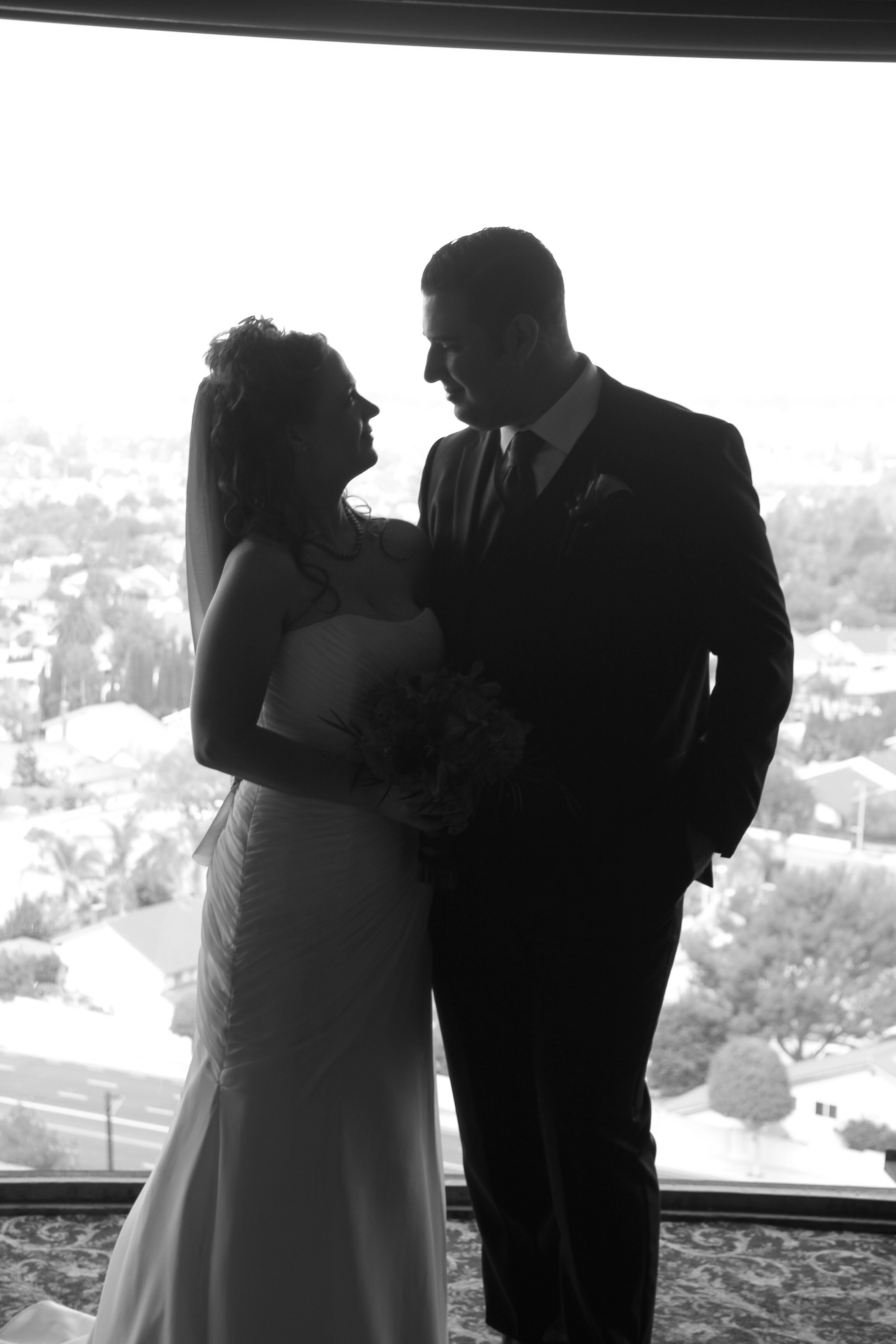 Just Married Silhouettes