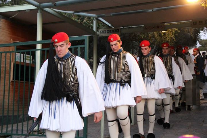 Greek soldiers in Athens