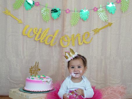 Isabella's 1st Year Birthday Cake Smash