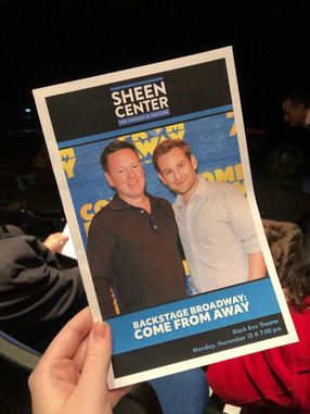 Backstage Broadway at the Sheen Center: Come From Away, with Kevin Tuerff and Chad Kimball
