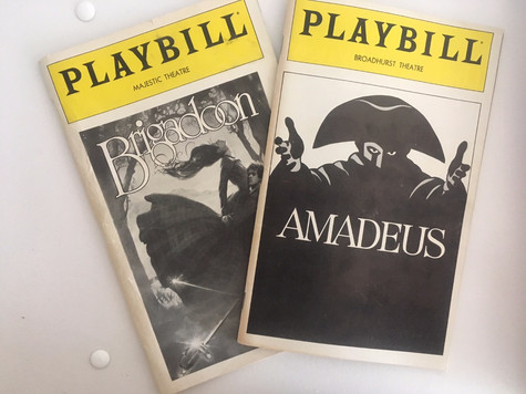 Playbills from the '80s vs. Playbills from 2017
