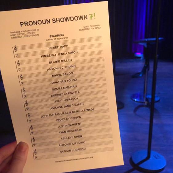 Pronoun Showdown 7 at Green Room 42