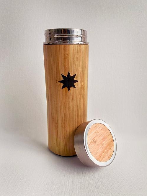 FB Star Bamboo Flask