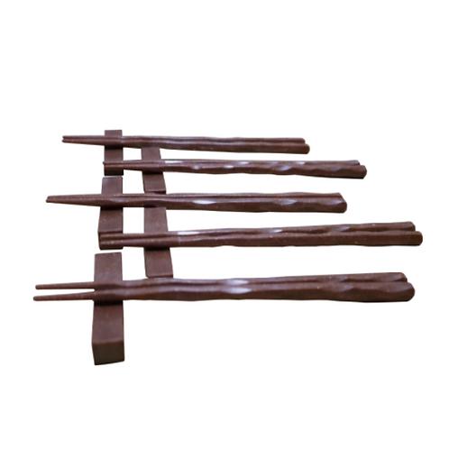 ウッドプラ箸&箸置 5膳セット