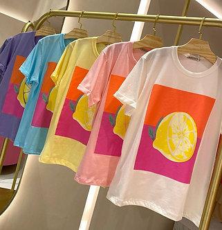 Tshirt Limão 100% algodão