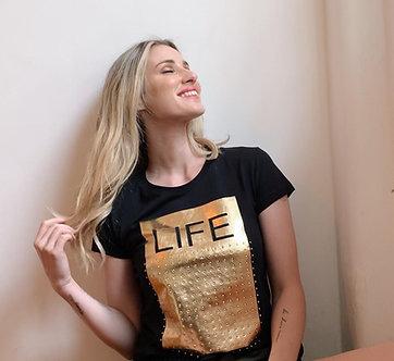 Camiseta Life com predras