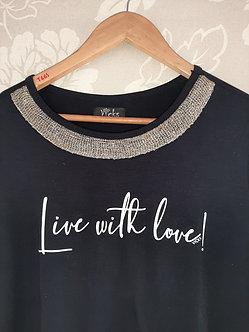 Camiseta Viscolycra live with love