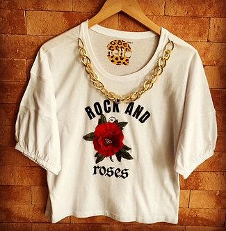 tshirt rock and roses
