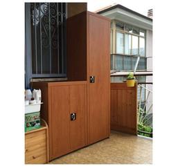 Mobile esterno lamiera, effetto legno ciliegio