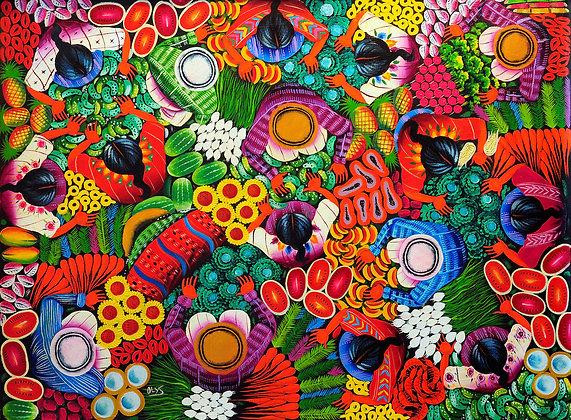 Mercado de frutas y flores Bird's eye view
