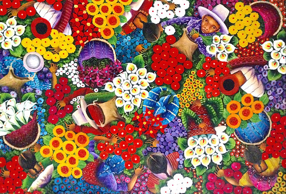 "MERCADO DE FLORES ""Flower Market"""