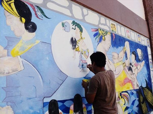 Rogellio Colli painting Mural