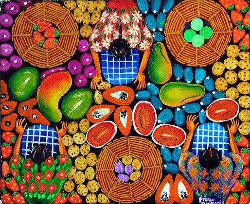 mercado de papayas